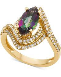 Macy's - Mystic Topaz (1-1/3 Ct. T.w.) & Diamond (1/2 Ct. T.w.) Ring In 14k Gold - Lyst
