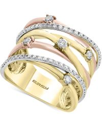 Effy Collection - Diamond Crisscross Ring (1/2 Ct. T.w.) In 14k Gold, White Gold & Rose Gold - Lyst