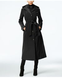 London Fog - Layered A-line Maxi Trench Coat - Lyst