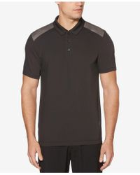 Perry Ellis - Colorblocked Polo - Lyst