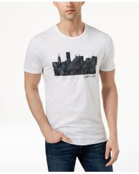Kenneth Cole - Cityscape Graphic-print T-shirt - Lyst