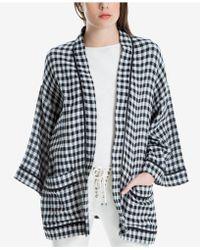 Max Studio - Cotton Gingham Check Kimono, Created For Macy's - Lyst