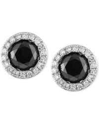 Effy Collection - Effy® Diamond Halo Stud Earrings (9/10 Ct. T.w.) In 14k White Gold - Lyst