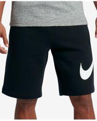Nike - Men's Club Fleece Shorts - Lyst
