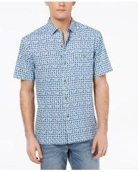 Tommy Bahama - Atomic Geo-print Silk Shirt - Lyst