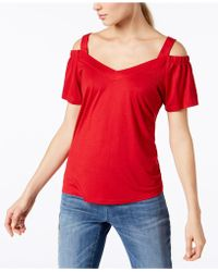 INC International Concepts - Petite Cold-shoulder Jersey Top, Created For Macy's - Lyst