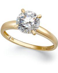 Arabella - 14k Gold Swarovski Zirconia Solitaire Ring (3-1/2 Ct. T.w.) - Lyst