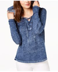 INC International Concepts - I.n.c. Long-sleeve Lace-up Hoodie, Created For Macy's - Lyst