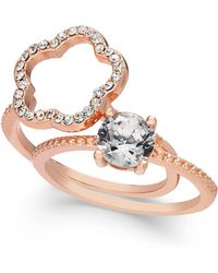 Charter Club - Rose Gold-tone 2-pc. Set Crystal Ring, Created For Macy's - Lyst