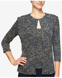 Alex Evenings | Glitter Paisley Print Top & Jacket | Lyst
