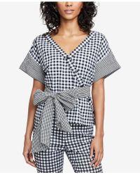 RACHEL Rachel Roy - Calle Printed Wrap Top, Created For Macy's - Lyst