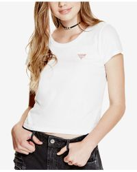 Guess - Crew-neck Logo T-shirt - Lyst