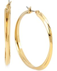 Hint Of Gold - Double Hoop Earrings In 14k Gold Over Sterling Silver - Lyst
