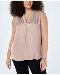 Vince Camuto - Plus Size V-neck Sleeveless Blouse - Lyst