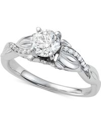 Macy's - Diamond Engagement Ring (7/8 Ct. T.w.) In 14k White Gold - Lyst