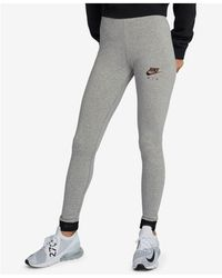 d07fa6dfb7a Nike Twisty Crop Printed Drifit Leggings in Black - Lyst