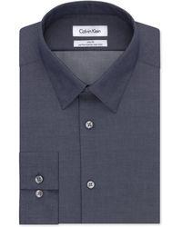 Calvin Klein - Men's Slim-fit Non-iron Performance Herringbone Dress Shirt - Lyst