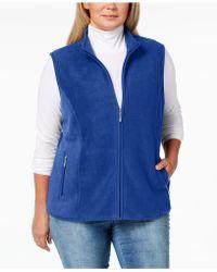 3ffc0f11c56a9 Karen Scott - Plus Size Zeroproof Fleece Vest - Lyst