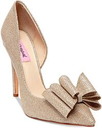 Betsey Johnson - Prince D'orsay Evening Court Shoes - Lyst