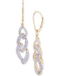 Wrapped in Love - Diamond Link Drop Earrings (1 Ct. T.w.) In 14k Gold Over Sterling Silver - Lyst