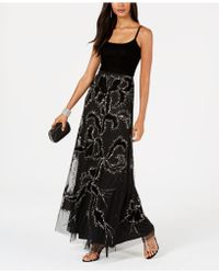 Adrianna Papell - Petite Embellished Velvet Gown - Lyst