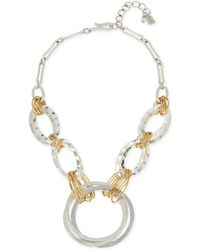 Robert Lee Morris - Two-tone Large Link Statement Necklace - Lyst