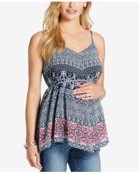 Jessica Simpson - Maternity Handkerchief-hem Top - Lyst
