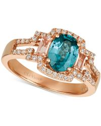 Le Vian - ® Blueberry Zircon (1-5/8 Ct. T.w.) & Diamond (1/4 Ct. T.w.) Ring In 14k Rose Gold - Lyst