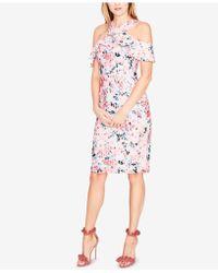 RACHEL Rachel Roy - Cold-shoulder Floral Lace Dress - Lyst
