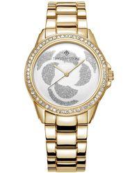 Timothy Stone - 'katy' Crystal Accented Rose Petal Bracelet Watch - Lyst