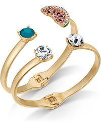INC International Concepts - I.n.c. Gold-tone 2-pc. Set Multi-stone & Watermelon Bangle Bracelets, Created For Macy's - Lyst
