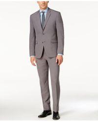 Perry Ellis - Men's Slim-fit Gray Sharkskin Suit - Lyst