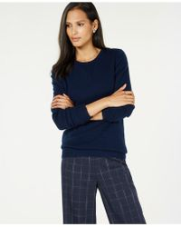 Charter Club - Pure Cashmere Solid Crewneck Sweater In Regular & Petite Sizes, Created For Macy's - Lyst