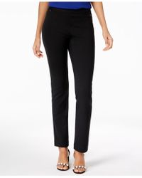 INC International Concepts - Curvy-fit Pull-on Straight-leg Pants - Lyst