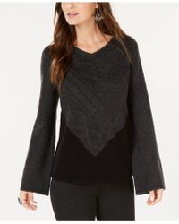 Style & Co. - Petite Colorblocked Mixed-stitch Jumper, Created For Macy's - Lyst
