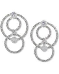 Anne Klein - Crystal & Pavé Multi-loop Drop Earrings - Lyst