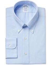 Brooks Brothers | Classic Fit Non-iron Pinpoint Solid Dress Shirt | Lyst