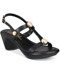 Callisto - Toggle Wedge Sandals - Lyst