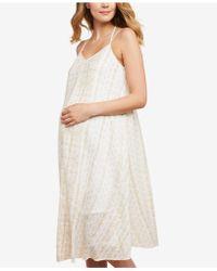 88282f4e09f6 Lyst - Rachel Zoe Maternity Animal-print Dress in White