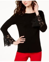 INC International Concepts - I.n.c. Petite Lace-cuff Sweater, Created For Macy's - Lyst