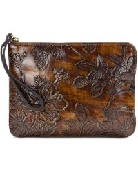 Patricia Nash - Bark Leaves Cassini Embossed Leather Wristlet, Created For Macy's - Lyst