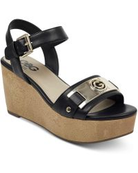 51b8c405fe2325 G by Guess - Danna Platform Wedge Sandals - Lyst