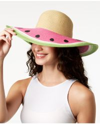 August Accessories - Fruit Stand Floppy Hat - Lyst