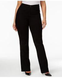 Style & Co. - Plus Size Jeans, Tummy Control Bootcut, Noir Wash - Lyst