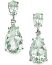Macy's - Gemstone Teardrop Drop Earrings (7 Ct. T.w.) In Sterling Silver - Lyst