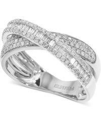 Effy - Fine Jewelry 14k .67 Ct. Tw. Diamond Crisscross Ring - Lyst