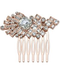 Badgley Mischka - Rose Gold-tone Crystal Hair Comb - Lyst