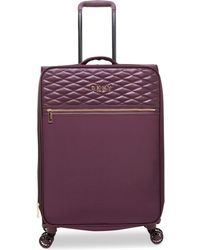 "DKNY - Allure 25"" Quilted Softside Spinner Suitcase - Lyst"