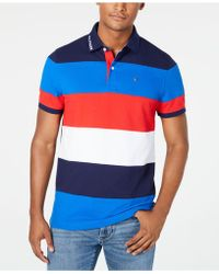 b9a5c4448 Tommy Hilfiger Men's Duckovny Colorblocked Stripe Polo in Blue for ...