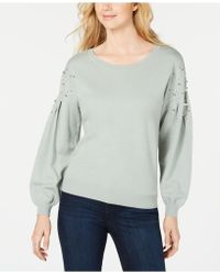 121560b74fe32 INC International Concepts - I.n.c. Embellished Balloon-sleeve Sweater